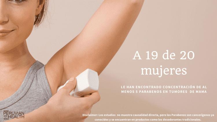 ¿Los sorprendentes ingredientes usados en el desodorante 100% natural de Peruvian Health?