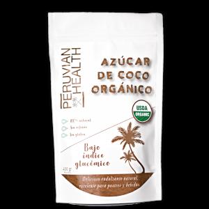 Azúcar de coco orgánico, endulzante 100% natural.